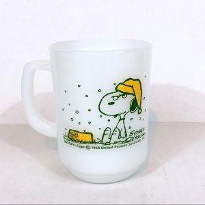 Antique Snoopy Mug- Anchor Hocking